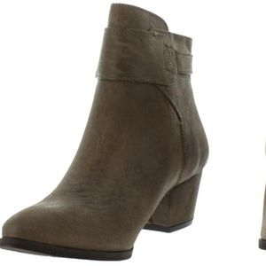 Free People Distressed Khaki New Ankle Buckle Boot